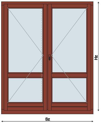 Drzwi Balkonowe Dwuskrzydłowe Drewniane Rr