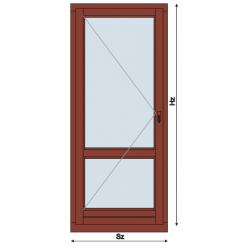Drzwi Balkonowe Drewniane Rozwierne